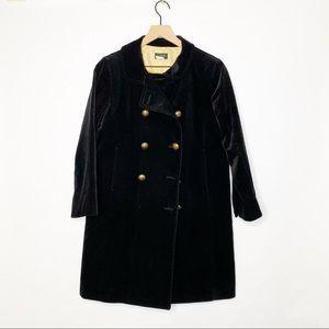 Vintage J. Crew Velvet Double Breasted Overcoat